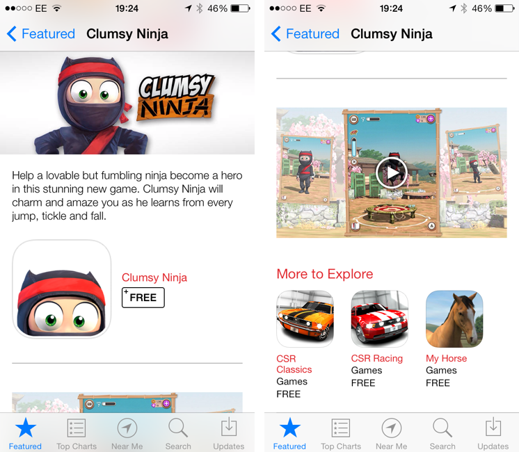 Video Trailers Debut On The App Store With 'Clumsy Ninja'