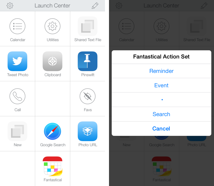 Launch Center Pro 2.1: Fleksy Keyboard, Lists, Photo Attachments, and Share Sheets