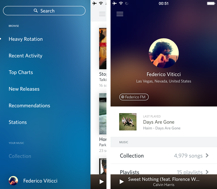 Rdio for iOS 7